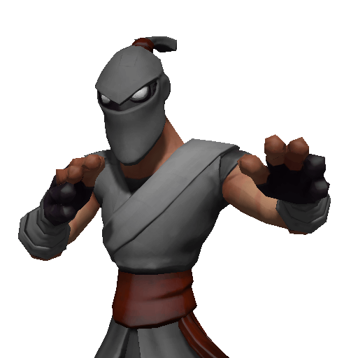 Shin fast mobility, ninja playable character with katana and shurikens
